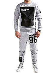 MT Styles ensemble pantalon de sport + sweat-Shirt jogging survêtement JUDGE TR-5098