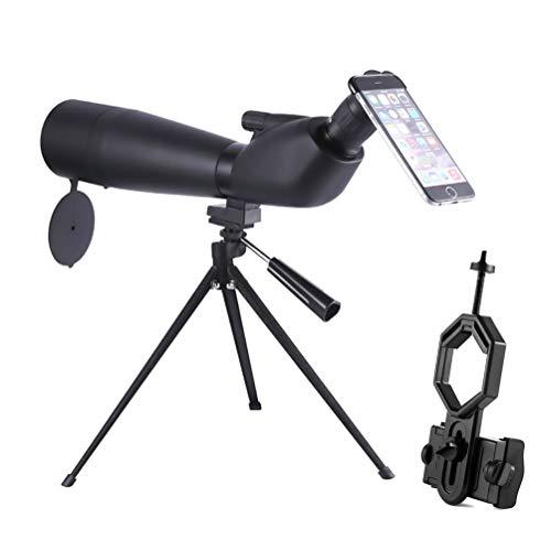 ZIHENGUO 20-60x60 wasserdichtes Spektiv, Optik-Zoom-Monokular-Teleskop mit Stativ, zum Schießen von...