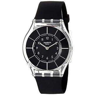 Swatch Reloj Analógico de Cuarzo para Mujer con Correa de Silicona – Zpin-channel-I