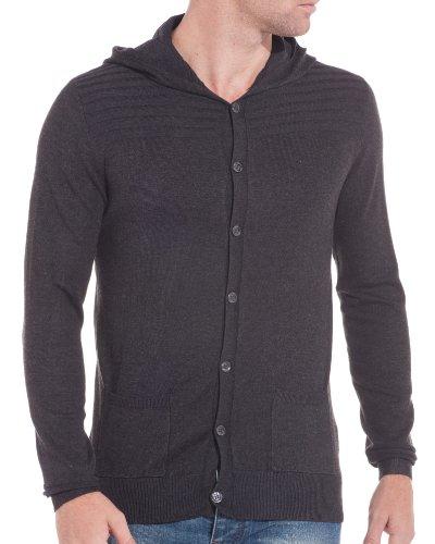 BLZ jeans - Gilet homme tendance gris foncé Gris