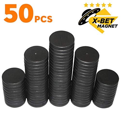 X-bet MAGNET TM 50 Stück Kühlschrankmagnete - 25 mm Magnete rund - Ferrit Magnete stark - Magnete Klein perfekt für Whiteboard, Pinnwand, Magnettafel, Haftmagnete, Kühlschrank Magnete