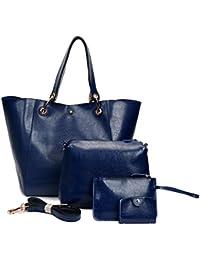 Ephraim Handbags For Ladies Fashion Leather Handbags+Tote Bag+Purse+Card Holder 4Pcs Shoulder Bag