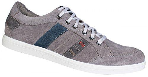 Jomos Herren Sneaker 316308-923-2084 gris, Gr. 41-46, cuir, H largeur, échangeables, semelle souple grau/kombi