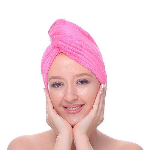 Bravo Asciugamano microfibra capelli anti frizz super assorbente turbante Wrap per lunghi corti o acconciature ricci Microfibra 65 X 25 CM