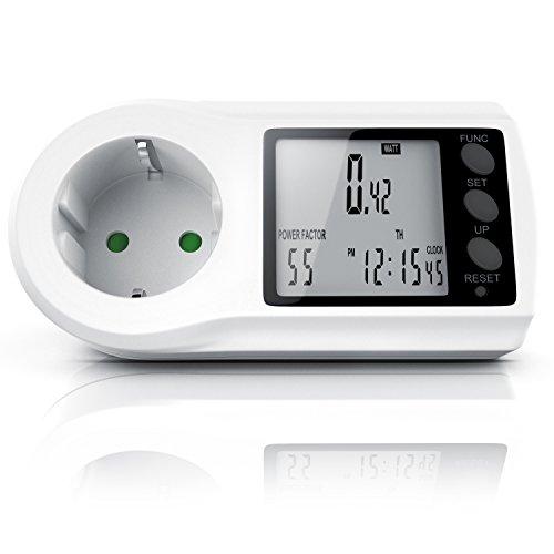 Energiekostenmessgerät | Stromkostenmessgerät | Stromverbrauchszähler | Standby-Verbrauchsmessung ab 0,2W | Multifunction Energy Power Meter | LCD Display -