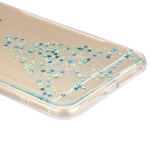 iPhone 6S Plus Hülle, iPhone 6 Plus Hülle, iPhone 6 Plus/6S Plus Silikon Schutz Handy Hülle Kratzfeste Tasche Handyhülle [Mit 1 X Frei Stylus Stift ], SainCat iPhone 6 / 6S Gel Case Weiche Bling Diama Engel-Blau