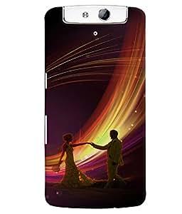 Fuson Premium Join To Dance Printed Hard Plastic Back Case Cover for Oppo N1