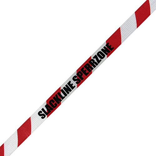 Alpidex Slackline mit Schriftzug Sperrzone in verschiedenen Längen , Slackline Länge:15m - 2t - 4