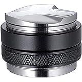 Moligh Poupée 51 mm Tamper et distributeur d'espresso à double tête, Niveau à café réglable, profondeur réglable