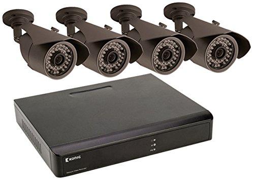 Netzwerk-könig (König SAS-SETNVR10 Netzwerk-Videorecorder mit 4 Kameras)