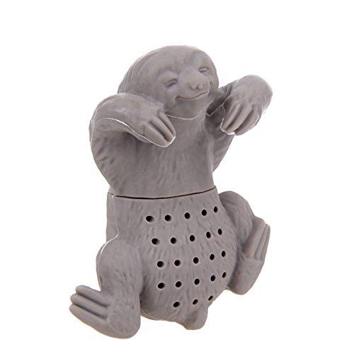 Teesiebe in verschiedenen kreativen Designs – Faultier in Grau