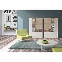 centro hogar sánchez Composición Modular para salón con Leds Acabado en Color Natural Combinado ...