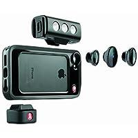 Manfrotto MKLOKLYP5S Schutzhülle mit SMT LED Leucht und Kamera Objektiv (3-er Set) für Apple iPhone 5/5S schwarz
