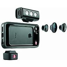 Manfrotto Klyp Bumper LED - Kit de 3 adaptadores para objetivos de cámaras iPhone 5/5S con carcasa, negro