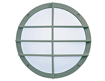 Züblin 748878 LED Applique Murale et Plafonnier IP55 Diamètre: 27,5 x 8,6 cm Argent