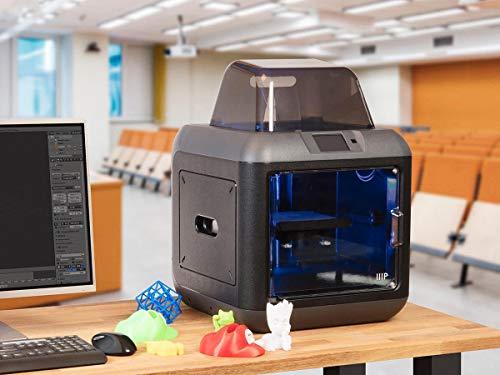 Monoprice 150 3D-Drucker - Schwarz mit (150 x 140 x 140 mm) herausnehmbarer Bauplatte, vollständig geschlossen, Touchscreen, unterstütztes Ausrichten, extrem leises Drucken, einfaches WLAN - 6