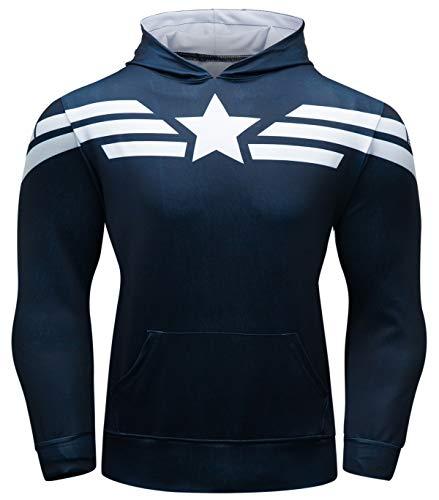 Cody Lundin Sport Hoodie für Herren Super Hero Kapuzenpullover Jacke für Fitness Herren Kapuze Männer Sweatshirts Hoody Outwear Hoody Männer Sport Hoodie (Color-d, M) -
