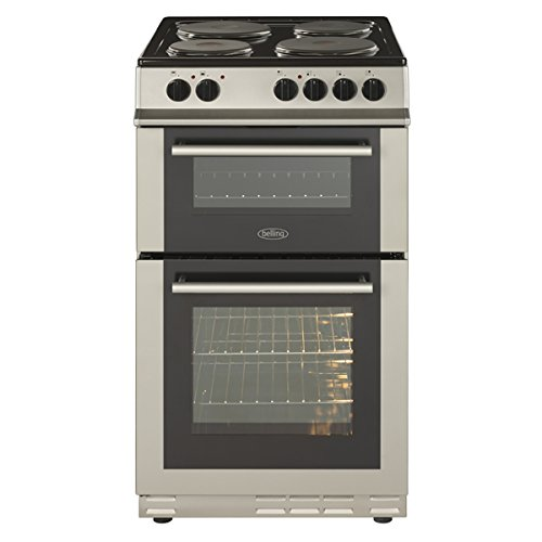 41tn3RAy0eL. SS500  - Belling FS50ET A Rated Twin Cavity 50cm Electric Cooker with 4 Burners in Silver