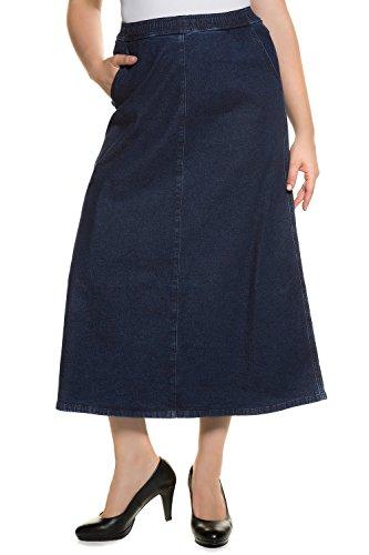 Ulla Popken Femme Grandes tailles | Jupe en denim | 713576 bleu foncé