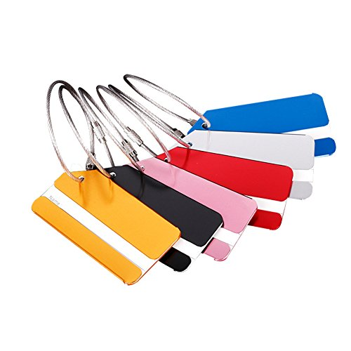 Skyeye 5 Pcs Random Color Alloy Baggage Tags Cruise Luggage Tag Holders Travel Tags Luggage Tags