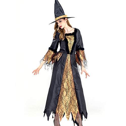 GYH Frauen Kleider Eraspooky Damen Renaissance Spinnen Hexe Halloween Kostüm,M -