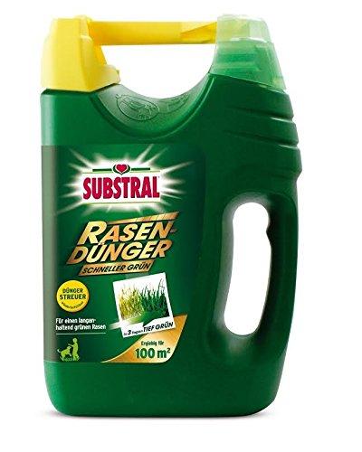 SUBSTRAL Rasendünger Schneller Grün | 7kg für 200 qm Rasenfläche