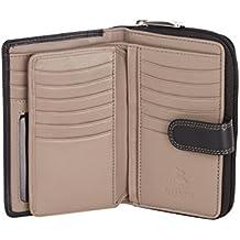 47b873266f6dd Visconti Bifold Leder Damen Geldbörse Colorado Combination Leather  mehrfarbig Purse (CD-22) RFID