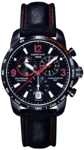 Certina Herren-Armbanduhr XL Chronograph Quarz Leder C001.639.16.057.02