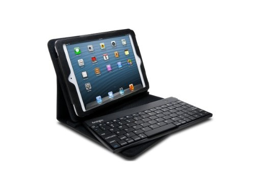 Kensington Apple iPad Mini 1, 2, 3 & 4 Bluetooth drahtloser Keyboard QWERTZ Tastatur Ständer Premium-Leder Kasten - 4 Fall Ipad Tastatur Mit