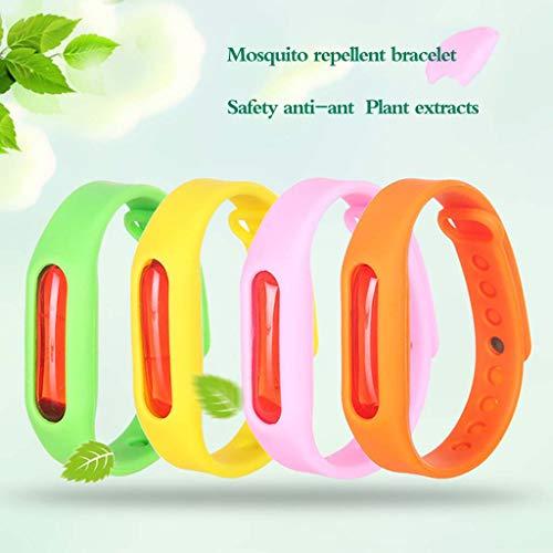 Mückenschutz Armband 5 Stück - Sommer Mückenschutz Armband Mückenschutz Mikrofaser Alle natürlichen Erwachsenen Kinder wasserdichtes Armband