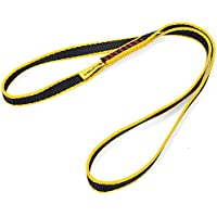 80cm Correa Cueradas Seguridad para Escalada Al Aire Libre Rapel Eslinga Faja Protección - Amarillo , 60cm