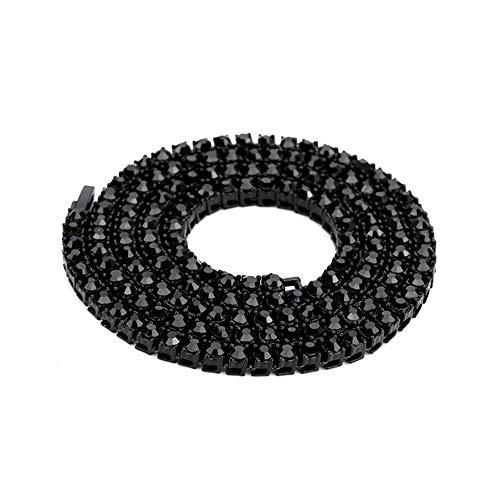 UINGKID Damen Halskette Anhänger Schmuck Hip Hop Kette 1 Serie 5mm abgerundete Tenniskette -
