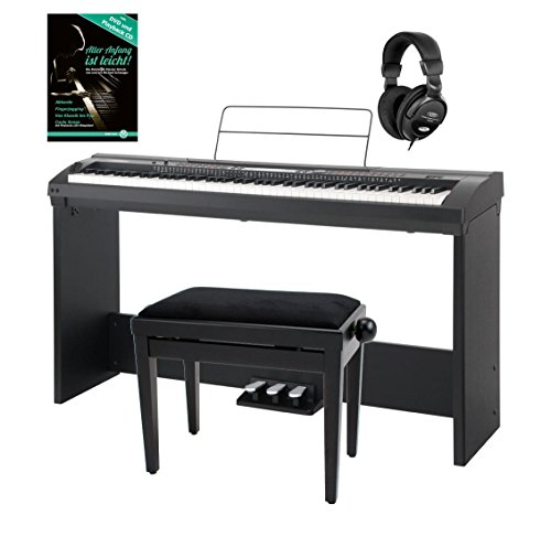 Set Deluxe de Stage Piano Classic Cantabile SP-250 BK negro