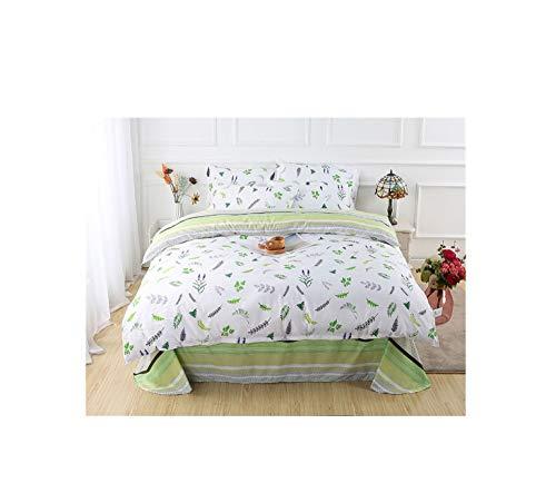 The Unbelievable Dream Steppdecken-Deckblätter doppelseitige Bettwäsche Set Baumwolle waschbar einfache niedliche Kinder Kinder Erwachsene träumen grüne Blätter, 1
