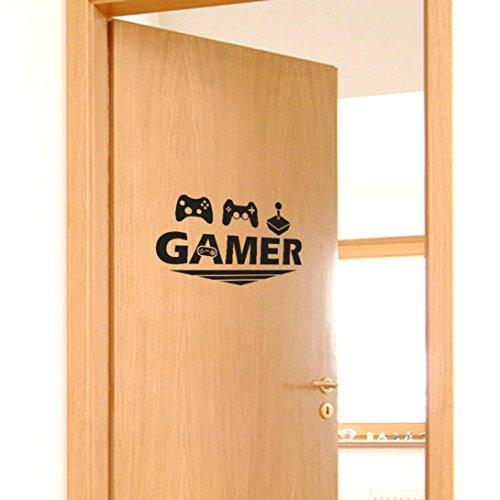 Cinnamou Gamer Home Pegatina linda nevera feliz cara