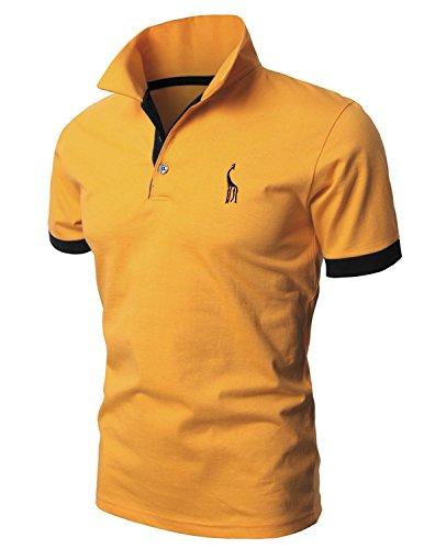 Leisure Poloshirts Herren Basic Kurzarm Polohemd M-XXL Gelb