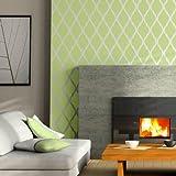 Stencil Wand Geometrico 001 Tetuan. Ungefähre Maße: Aussenmaß Stencil: 50 x 50 cm) (Maßnahme des Design: 48 x 48 cm)