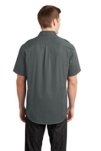 Autorità portuale da uomo in tessuto spigato, resistente alle macchie Steel Grey
