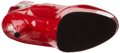 Pleaser Delight-3063, Bottes non doublées arrivant au dessus du genou femme Rouge (Red Str Pat/Red)