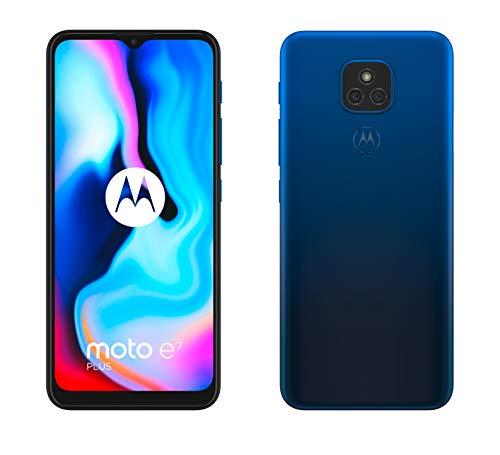 """Oferta de Motorola Moto E7 Plus - 6.5"""" Max Vision HD+, Qualcomm Snapdragon 460, 48MP sistema de doble cámara, 5000 mAH de batería, Dual SIM, 4/64GB, Android 10 - Color Azul [Versión ES/PT]"""