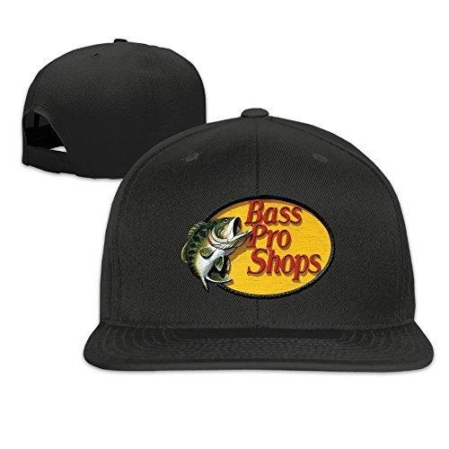 Youaini Bass Pro Shops Logo Unisex Adjustable Flat Fitted Hat Baseball Cap Black