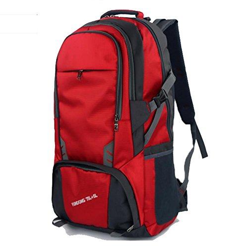 Outdoor zaino sport, grande sacchetto di alpinismo capienza, borsa a tracolla impermeabile, la corsa esterna zaino, viaggi di piacere zaino 80L, sacchetto dell'allievo, borsa del computer, il sacchett red
