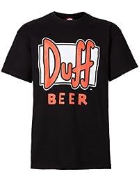 """The Simpsons Herren T-Shirt """"Duff Beer"""", 100% Baumwolle, schwarz"""
