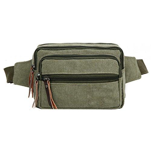 LAIDAYE Männer Schulter Messenger Tasche Business Freizeit Mehrzweck- Reiserucksack Green