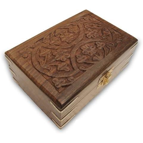 Carving a mano in legno di monili in ottone Pezzi Corners - Carving Capo