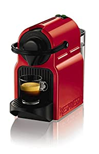 Krups Nespresso Inissia Coffee Capsule Machine Ruby Red
