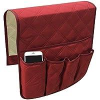 TiooDre - Soporte para sofá y sillón Impermeable, Resistente, Suave, Organizador para teléfono, Libro, revistas, Mando a Distancia para TV