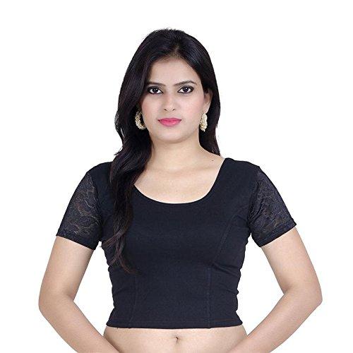 ecbf008accd8a GoGurl Women s Cotton Lycra Stitched Stretchable Blouse · Fressia Fabrics Women s  Cotton Saree Blouse (Ch 100Master)