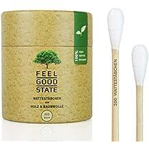 200 De Madera bastoncillos de Feel Good State | Big Pack | 100% Biodegradable;