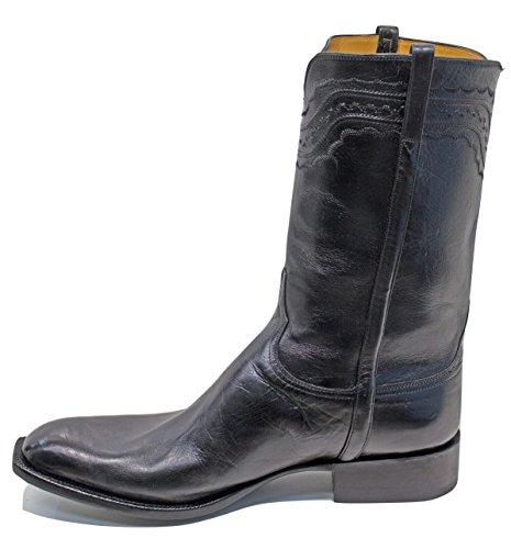 74517c8d9 Tamaño de Botas de Cowboy de búfalo Negro Lucchese clásicos (9.5EEE)